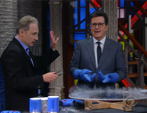 Greene Demonstrates Quantum Levitation on the Late Show